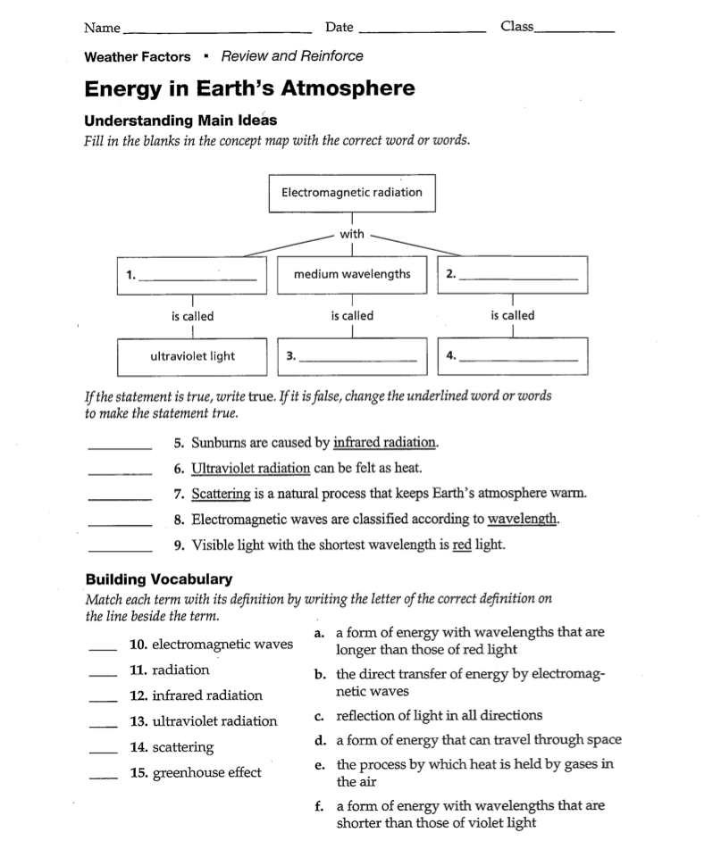 Science 1314 LMS 8th Grade Planner – Bill Nye Atmosphere Worksheet